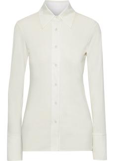 Helmut Lang Woman Slub Silk-jersey Shirt Ivory