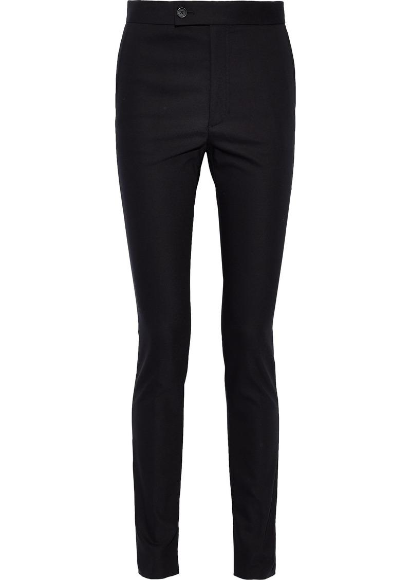 Helmut Lang Woman Stretch-cady Skinny Pants Black
