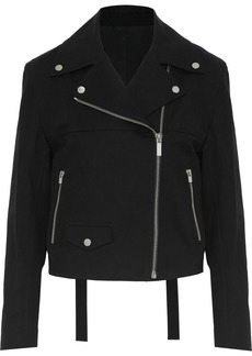 Helmut Lang Woman Stretch-cotton Biker Jacket Black