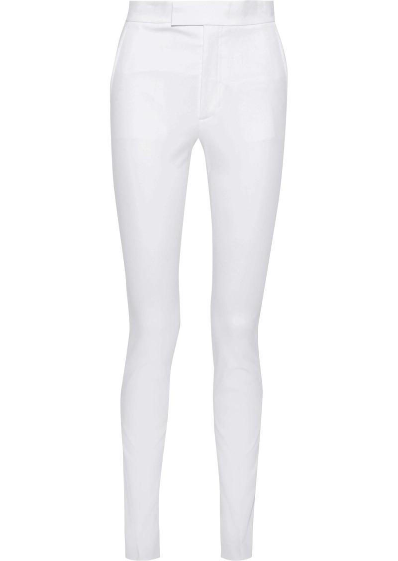 Helmut Lang Woman Rider Stretch-cotton Twill Skinny Pants White