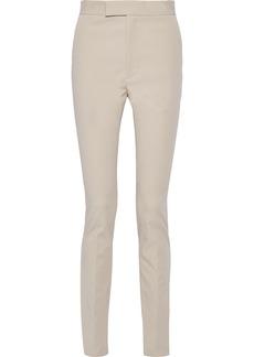 Helmut Lang Woman Rider Stretch-cotton Twill Skinny Pants Beige