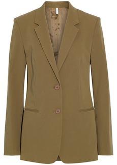 Helmut Lang Woman Stretch-cotton Twill Blazer Sage Green