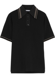 Helmut Lang Woman Stretch-jersey Polo Shirt Black