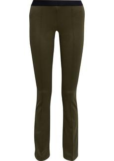 Helmut Lang Woman Stretch-ponte Slim-leg Pants Army Green