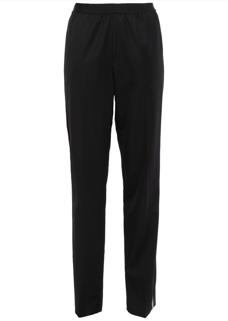Helmut Lang Woman Striped Wool-twill Tapered Pants Black