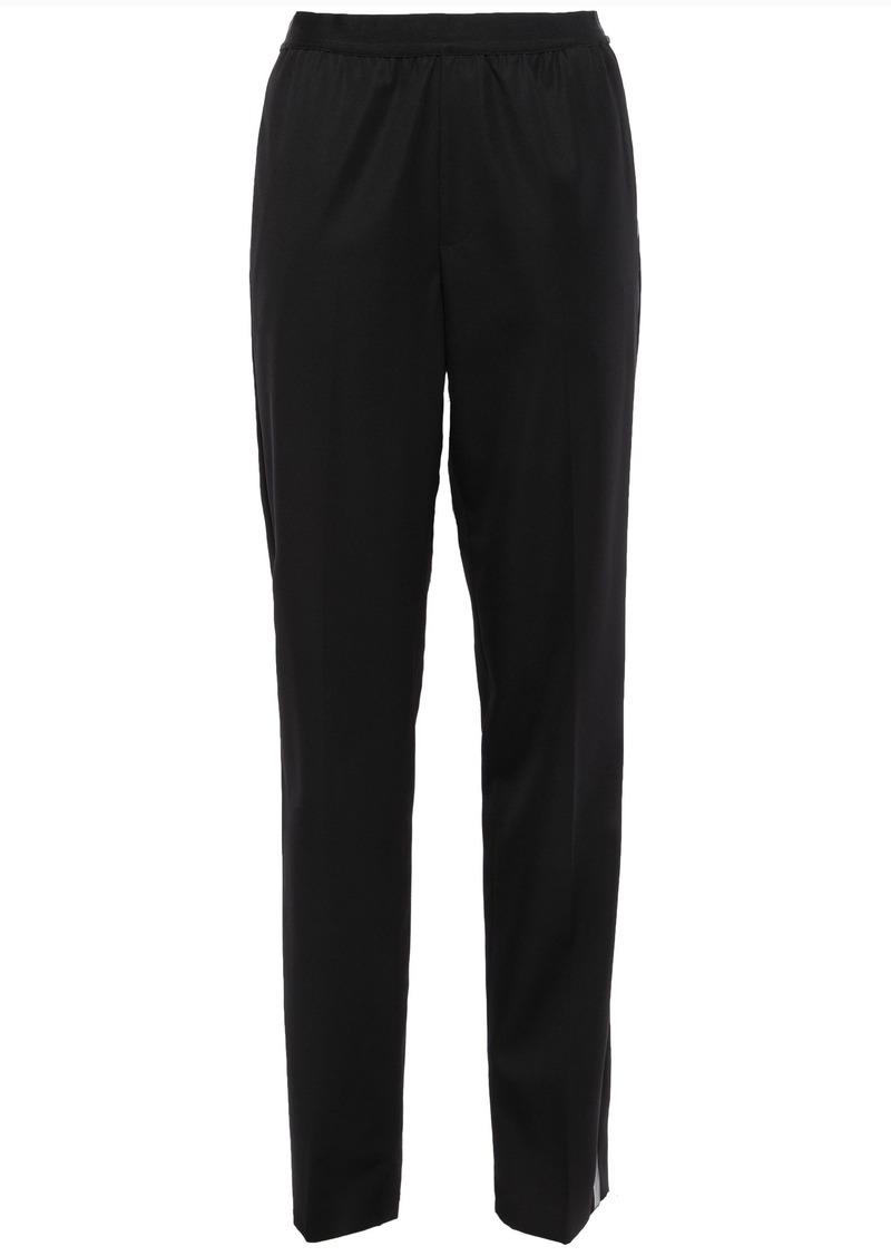 Helmut Lang Woman Striped Wool-twill Tapered Pants Black