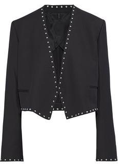 Helmut Lang Woman Studded Crepe Jacket Black