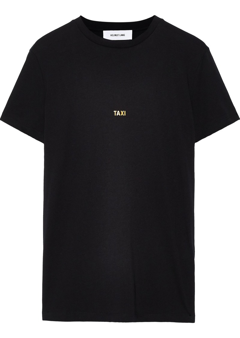 Helmut Lang Woman Taxi Printed Cotton-jersey T-shirt Black