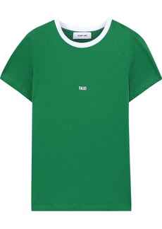 Helmut Lang Woman Taxi Printed Cotton-jersey T-shirt Green