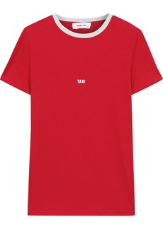 Helmut Lang Woman Taxi Printed Cotton-jersey T-shirt Red