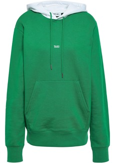 Helmut Lang Woman Taxi Printed French Cotton-terry Hoodie Green
