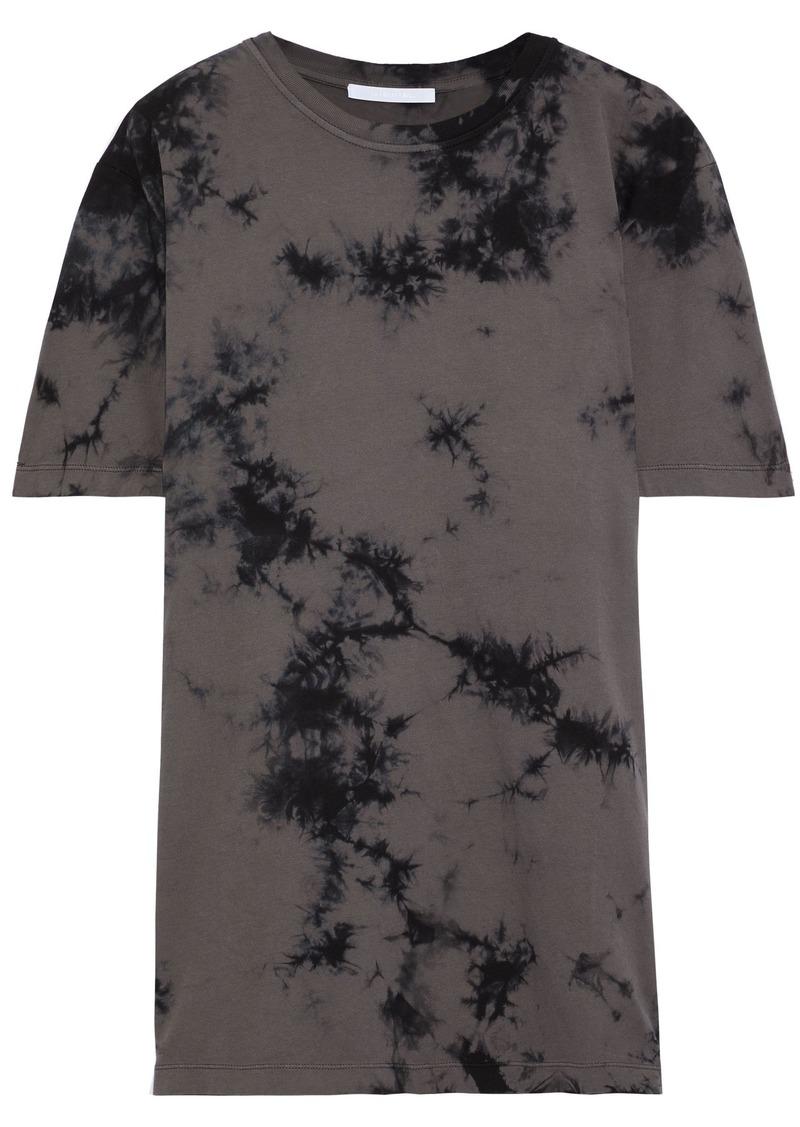 Helmut Lang Woman Tie-dyed Cotton-jersey T-shirt Dark Gray