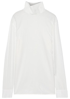 Helmut Lang Woman Twill Turtleneck Shirt Ivory