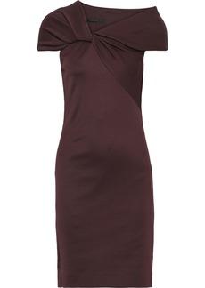Helmut Lang Woman Twist-front Stretch-knit Dress Grape
