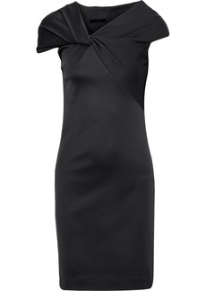 Helmut Lang Woman Twist-front Stretch-knit Dress Charcoal