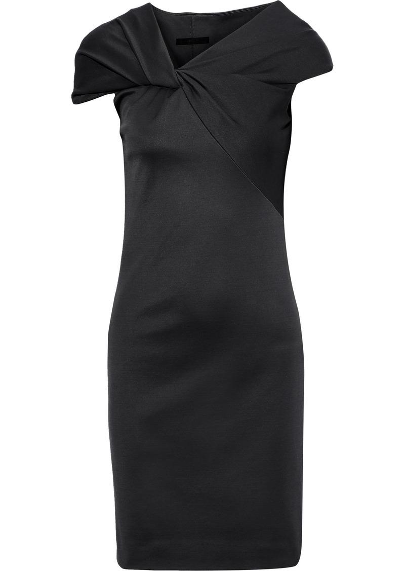 Helmut Lang Woman Twist-front Stretch-knit Dress Charcoal