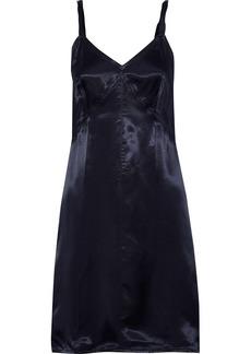 Helmut Lang Woman Twisted Satin-twill Mini Slip Dress Indigo