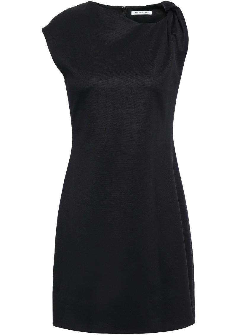 Helmut Lang Woman Twisted Stretch-jersey Mini Dress Black