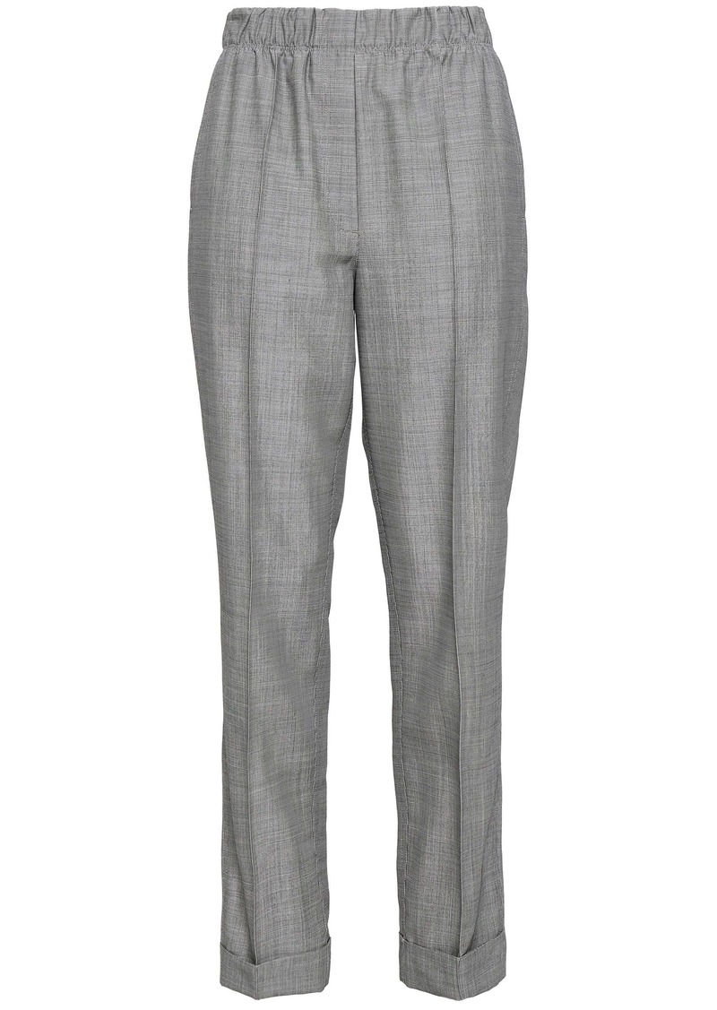 Helmut Lang Woman Wool And Mohair-blend Straight-leg Pants Gray