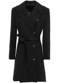 Helmut Lang Woman Wool-blend Twill Trench Coat Black