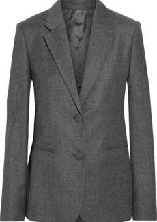 Helmut Lang Woman Wool-flannel Blazer Anthracite
