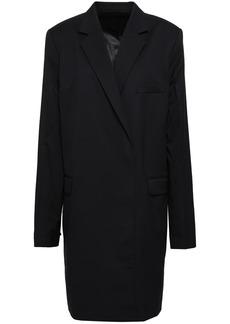 Helmut Lang Woman Wool-twill Coat Black
