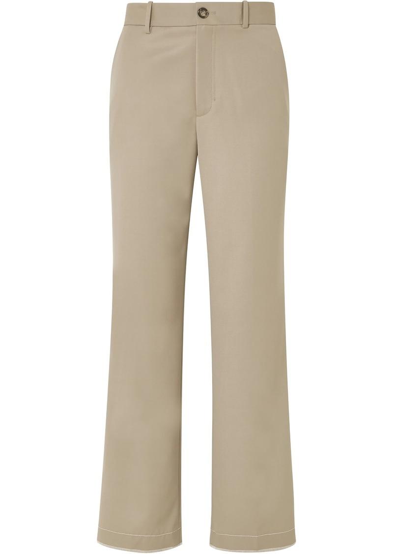 Helmut Lang Woman Wool-twill Straight-leg Pants Beige