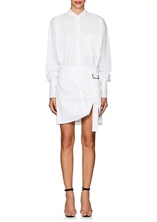 Helmut Lang Women's Adjustable-Hem Striped Cotton Shirtdress