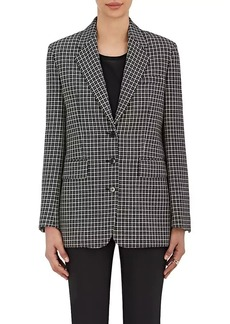 Helmut Lang Women's Checked Wool Three-Button Jacket