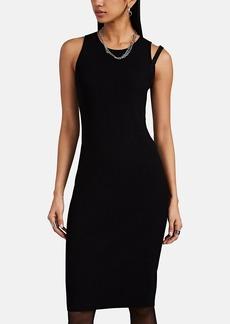 Helmut Lang Women's Compact Rib-Knit Sleeveless Dress