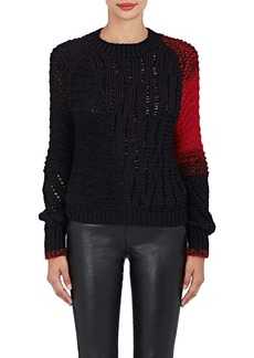 Helmut Lang Women's Contrast Sleeve Wool Sweater