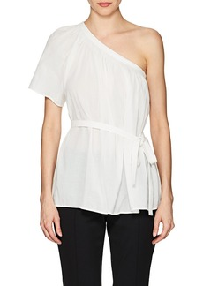 Helmut Lang Women's Cotton Belted One-Shoulder Top