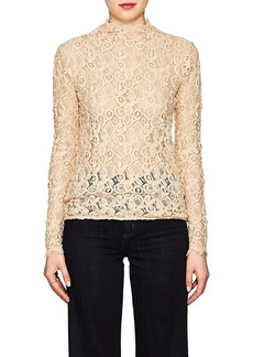 Helmut Lang Women's Cotton-Blend Lace Top