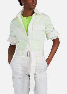 Helmut Lang Women's Cotton-Blend Twill Utility Shirt