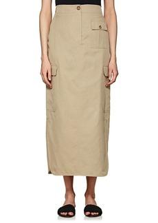 Helmut Lang Women's Cotton-Silk Cargo Skirt