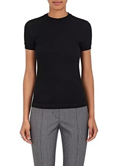 Helmut Lang Women's Cotton Textured-Knit Crewneck Shirt