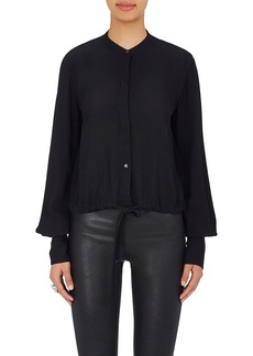Helmut Lang Women's Crepe Split-Back Blouse
