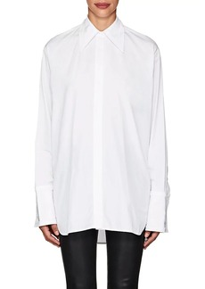 Helmut Lang Women's Cutout-Back Cotton Shirt