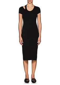 Helmut Lang Women's Cutout-Detailed Jersey Midi-Dress