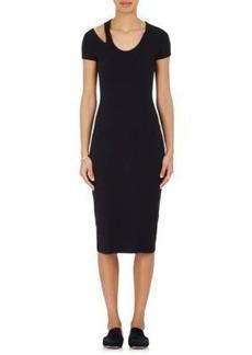 Helmut Lang Women's Cutout Jersey Midi-Dress