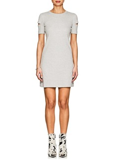 Helmut Lang Women's Cutout Rib-Knit Cotton T-Shirt Dress