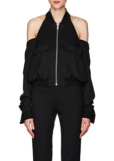 Helmut Lang Women's Cutout-Shoulder Wool Bomber Jacket