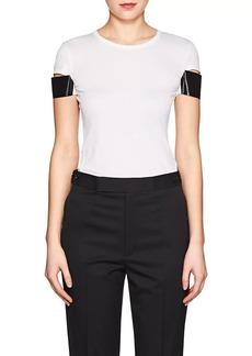 Helmut Lang Women's Cutout-Sleeve Cotton T-Shirt