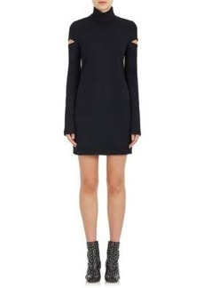 Helmut Lang Women's Cutout-Sleeve Wool-Blend Dress