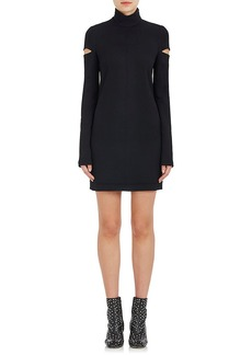 Helmut Lang Women's Cutout-Sleeve Wool-Blend Dress