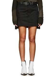 Helmut Lang Women's Denim High-Rise Military Skirt