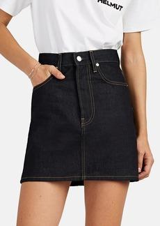 Helmut Lang Women's Denim High-Rise Miniskirt