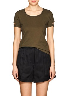 Helmut Lang Women's Distressed Cotton T-Shirt