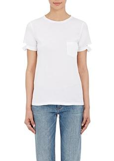 Helmut Lang Women's Distressed-Cuff Cotton T-Shirt