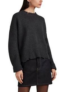 Helmut Lang Women's Distressed Wool-Cashmere Sweater